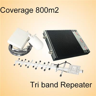 2g/3g/4g signal booster/repeater 900MHz 1800MHz 2100MHz repeater Tri-band 900 1800 2100 indoor mobile signal booster