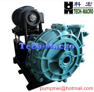 AH rubber lined heavy duty slurry pump for mining