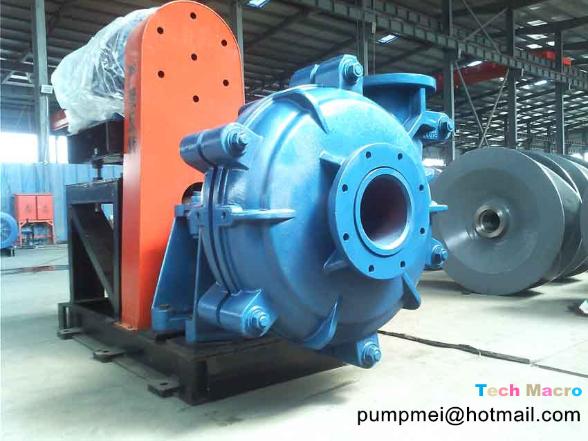 8/6 double casing centrifugal slurry pump