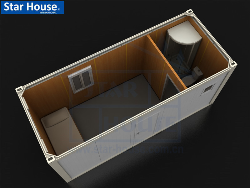 movable house SH114 one bedroom with bathroom