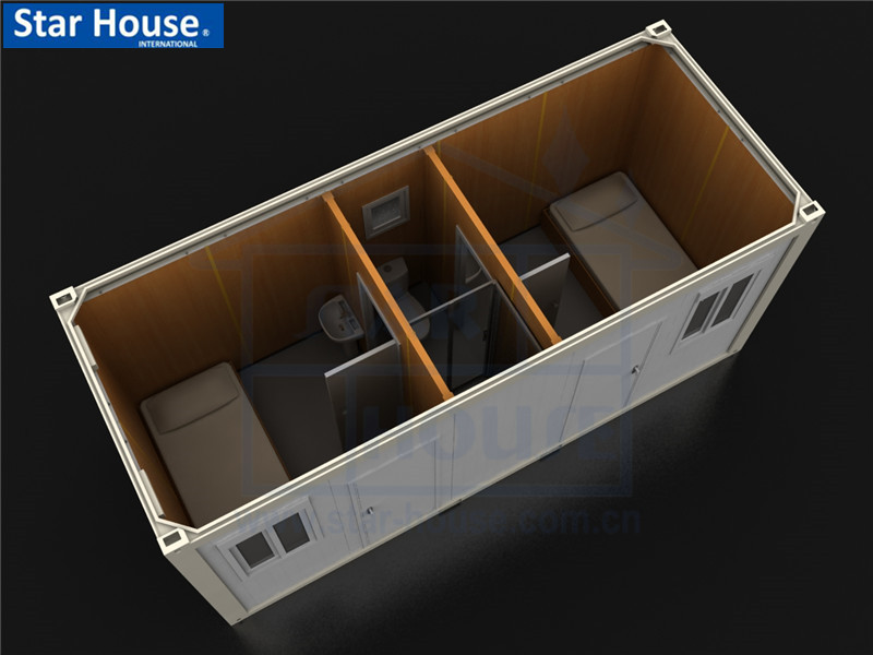 Flat pack single container house SH114A