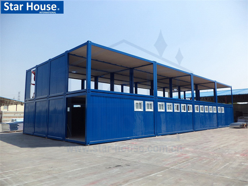 Modular container house for refugee camp