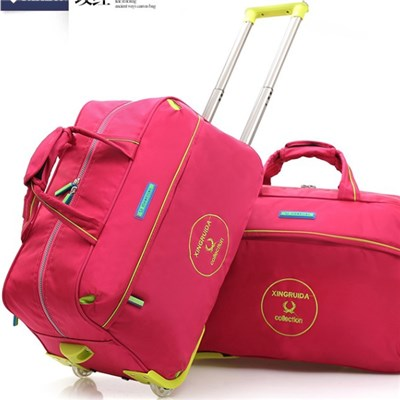 Travel Duffel Bag for Women & Men - Foldable Duffle for Luggage Gym Sports