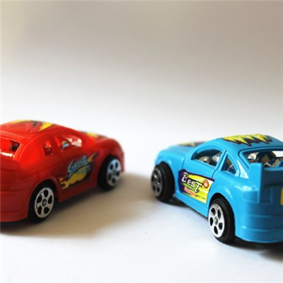 Funny Plastic Toy Car Cheap 4 Designs Solid Pullback Car