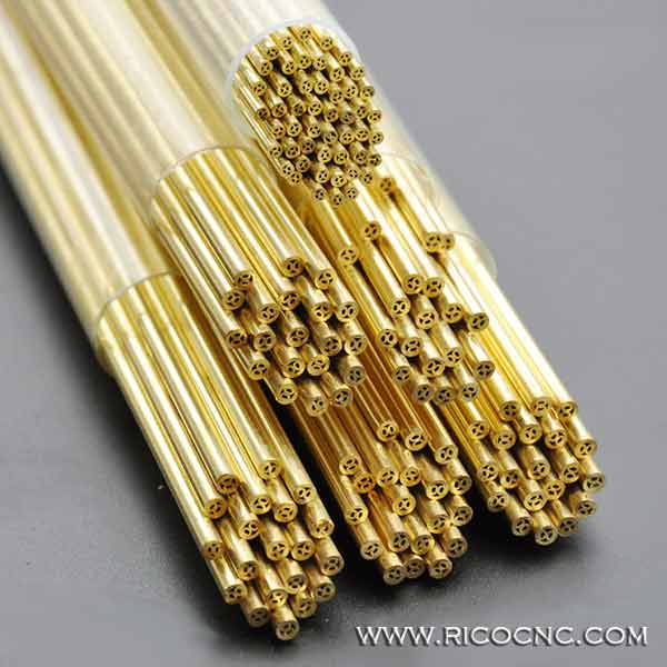 EDM Brass Pipe Multi Hole Electrode Tubes for Small Hole Popping EDM