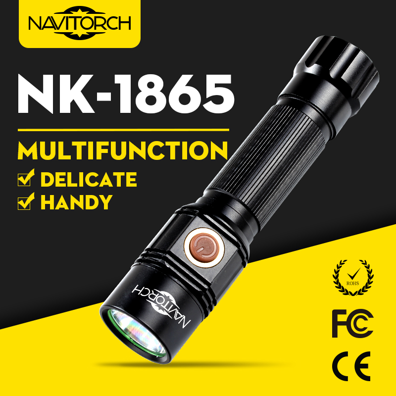 Long Run Time Handheld Impact Resistant LED Torch/Aluminium Flashlight (NK-1865)