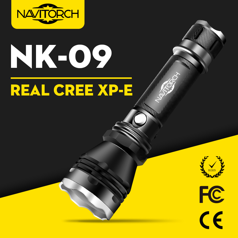 CREE XP-E LED Waterproof Rechargeable Aluminum LED Flashlight (NK-09)