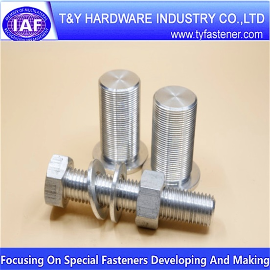 Aluminium galvanized hex bolts and nuts and washers
