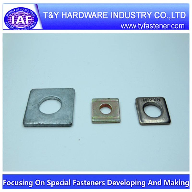 Flat Square Metal washer HDG Coating