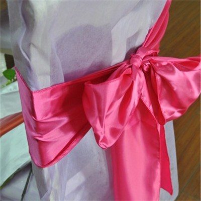 Satin Chair Sash for Wedding Chair Cover