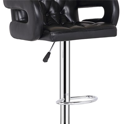 Synthetic Leather Bar Stool with U Armrest