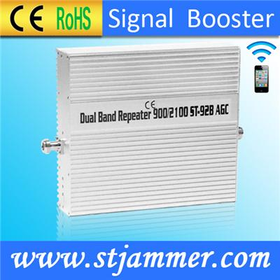 Wireless Indoor GSM 3G cell Phone Signal Amplifier- 900 & 2100 Mobile Signal Booster Extender