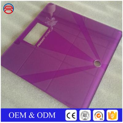 2-8mm Rectangle Silkscreen Printing Tempered Glass Panels For Digital Scale