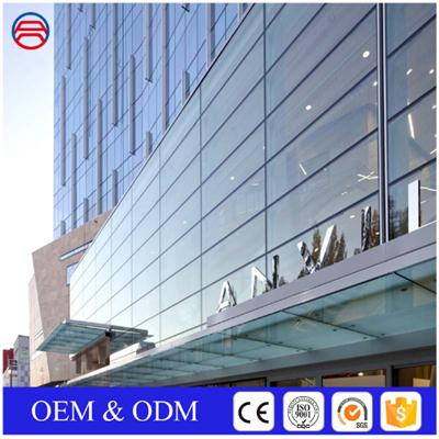 4+6A+4mm Insulated Tempered Low E Glass Curtain Walls
