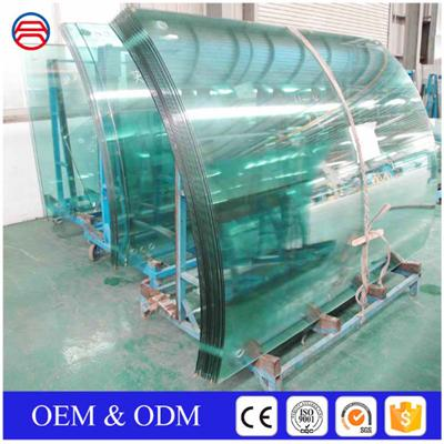 Curved Tempered Low E Glass Curtain Walls