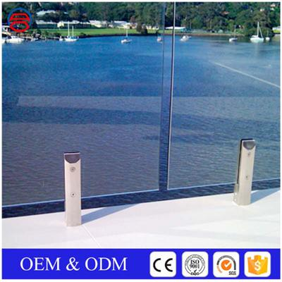 Clear Frameless Tempered Glass Railings For Swimming Pool