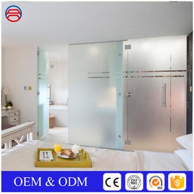 Acid Etch Frosted Tempered Glass For Shower Doors