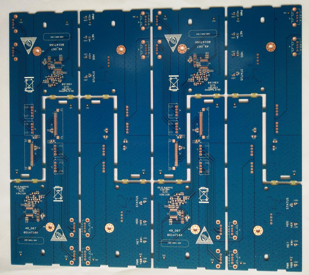 Double side Printed Circuits Board (PCB) with 3.5mil S/M Bridge for Security