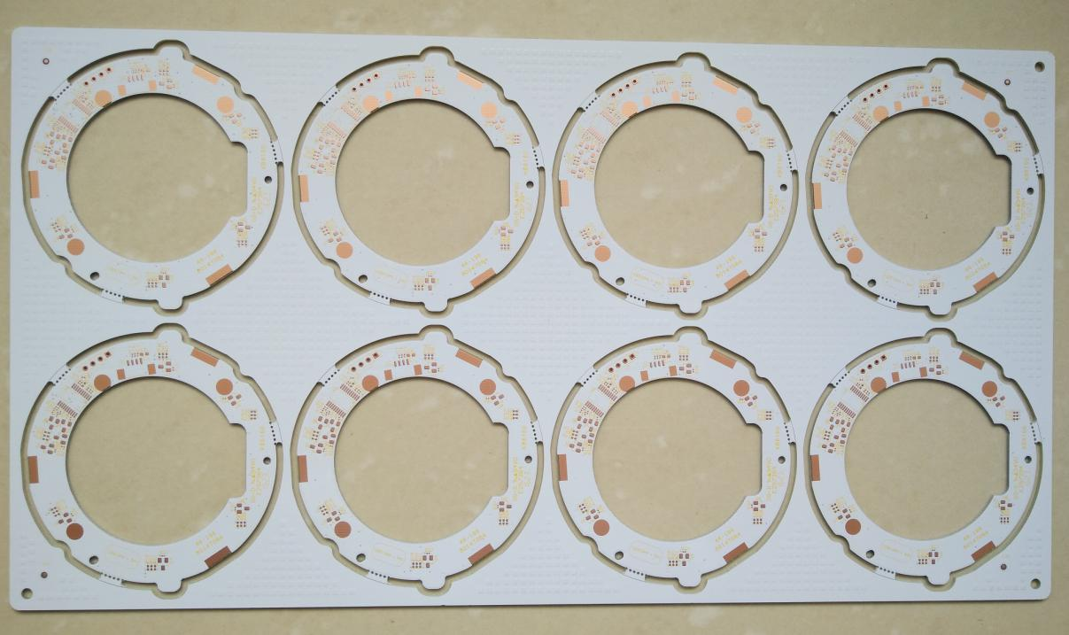 48 mil thickness double side Printed Circuits Board (PCB) with white S/M and yellow legend for LED Solution