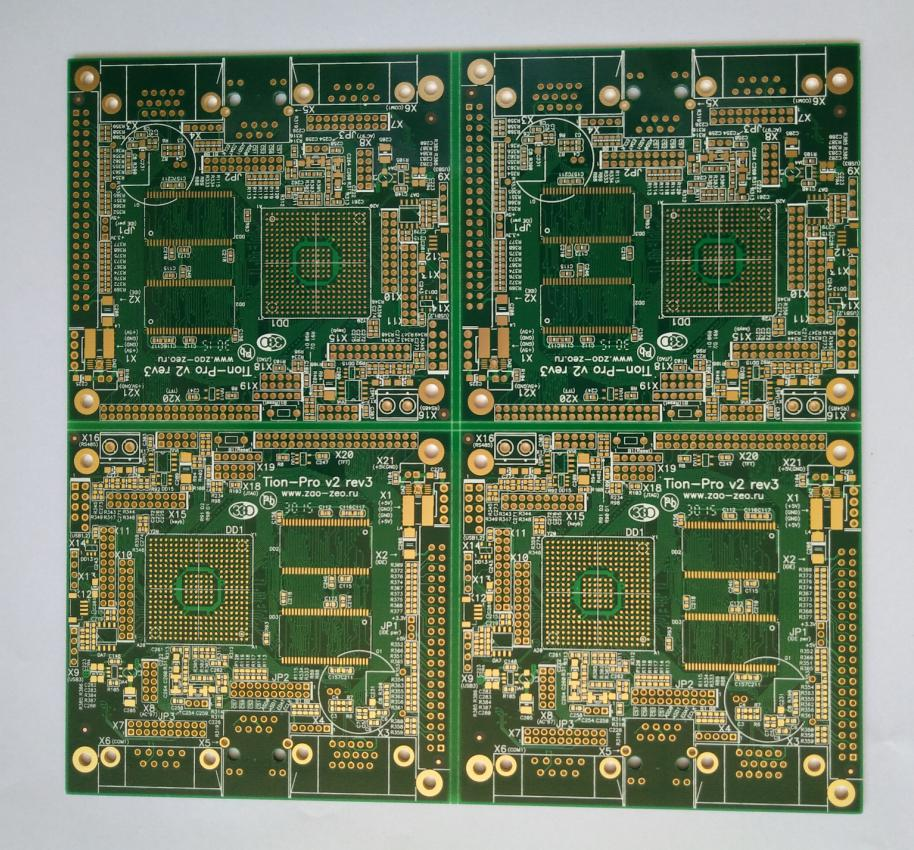 Gold Multi-layer Printed Circuits Board (PCB) with min. line width/spacing 4.72/5.12 mil for industrial Solution