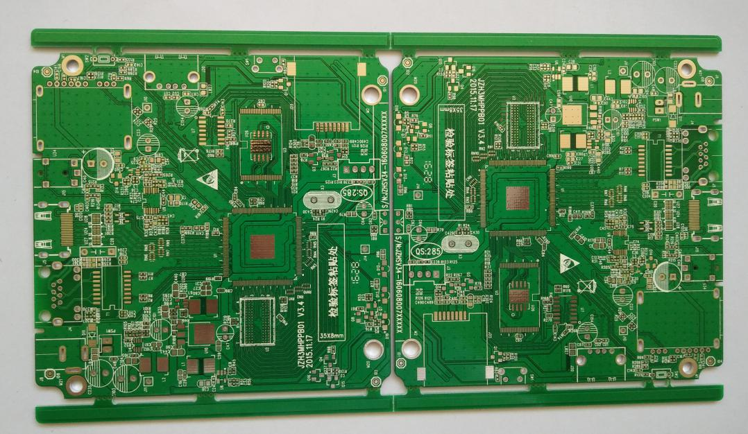 Immersion Gold double side Printed Circuits Board (PCB) with min.line width/spacing 4.33/4.33 mil for Tele-com Solution