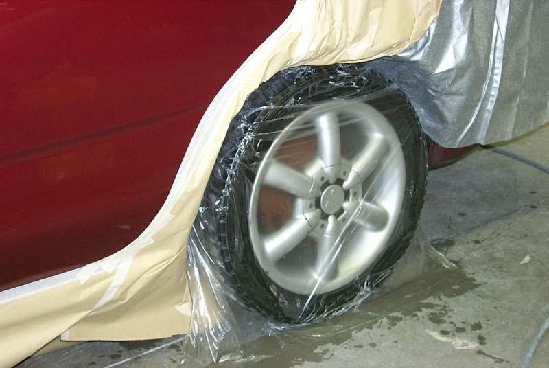 PE disposable car tire bag with printing