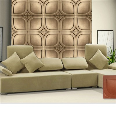 3D Leather Wall Panel For Room Decoration