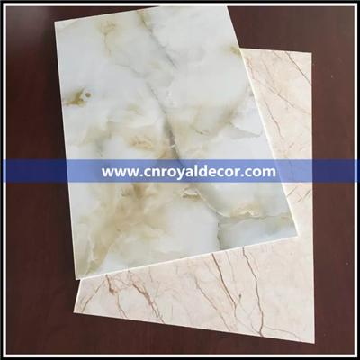 PVC Marble Sheet With UV Coating