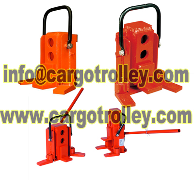 Hand operated toe jack for sale