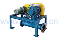 High efficiency rotary feeder for conveying