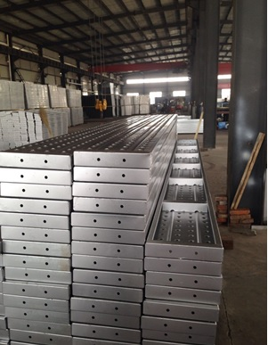 metal deck metal plank for constuction scaffolding system