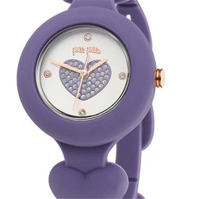 Wholesale New Stylish Pretty Silicone Crystal Lady Girl Quartz Wristwatch- gift set