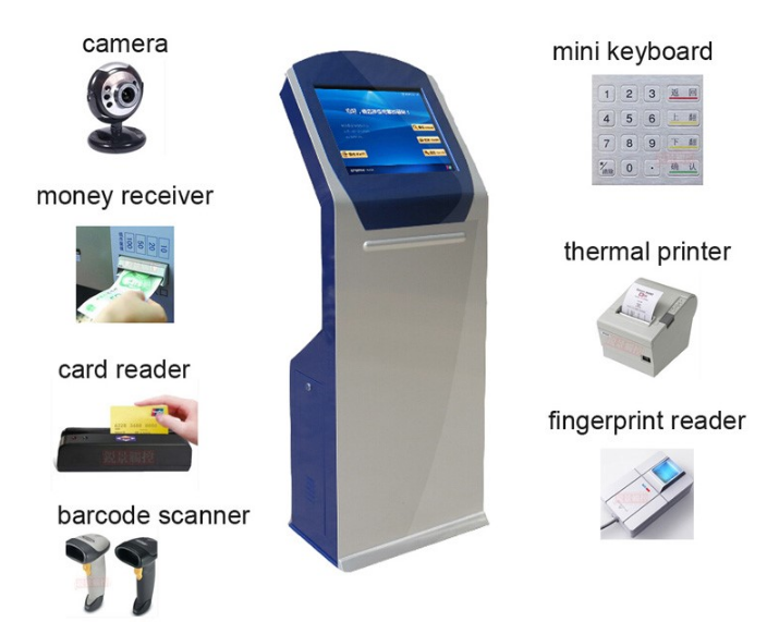 China Factory Magnetic Card Reader Atm Kiosk Terminal/Bill Acceptor Payment Kiosk