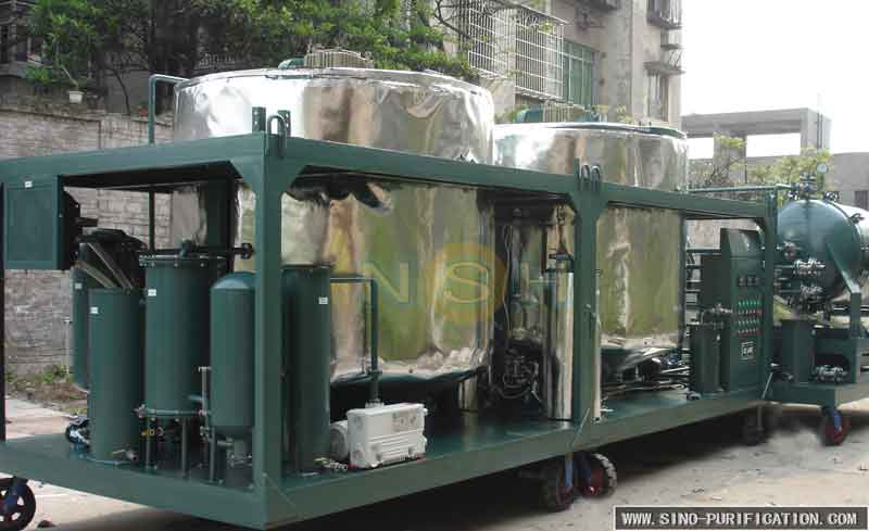 GER Used Engine Oil Filter Recycling Machine