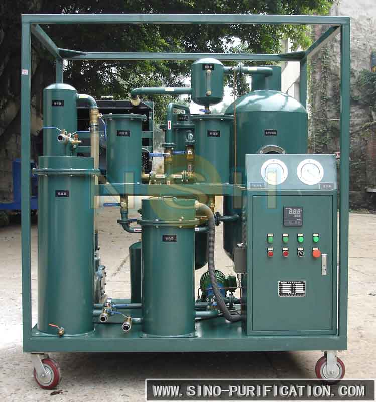 Waste black lubrication oil purifier,Hydraulic oil filtering machine