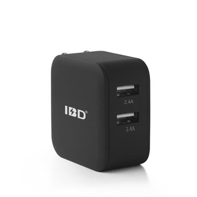 Universal mobile 2 port US EU smart travel charger suitable for all mobile phones