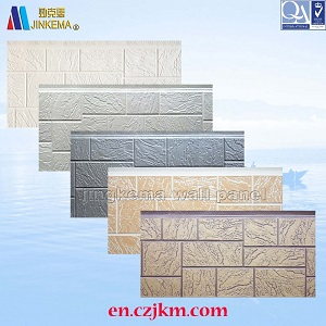 High quality PU Decorative Metal Siding Insulation Sandwich Panel used for Exterior Wall Price and Manufacturer