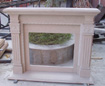 Fireplace, indoor and outdoor marble fireplace