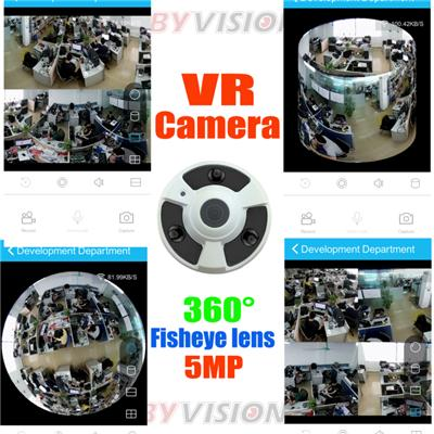 5MP Fisheye Lens 360 VR Camera App