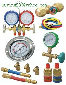 Manifold & Gauge & charging hose & Quick coupling for HVAC