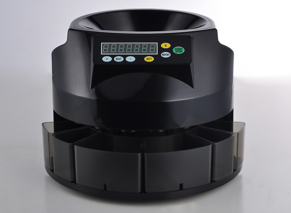 DB350,China Dongbo small black fast speed coin sorter and counter machine suitable to supermarket for Dubai,Mexico,Norway