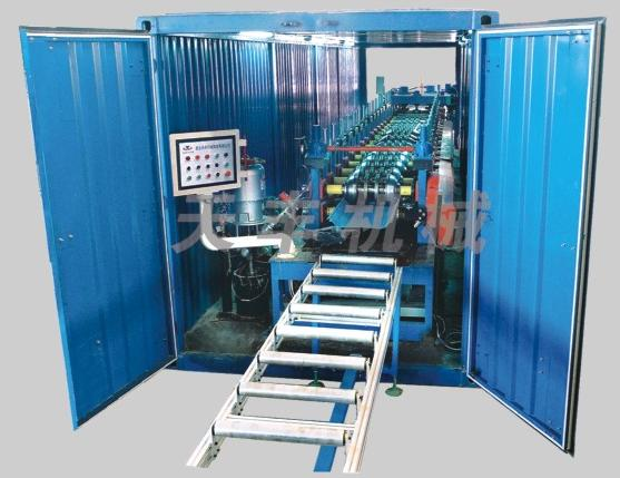 360 degree motive type occlusive and vertical roof roll forming line