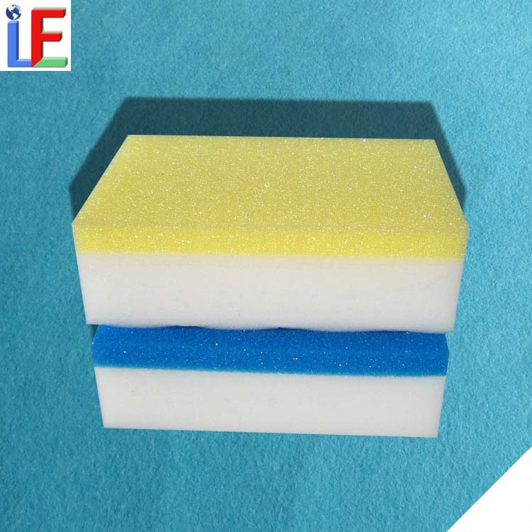 2 layers Kitchen Cleaning Magic Eraser Sponge for Household