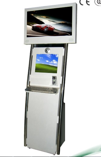 China factory good price 19 inch dual screens self service payment kiosk with bill acceptor