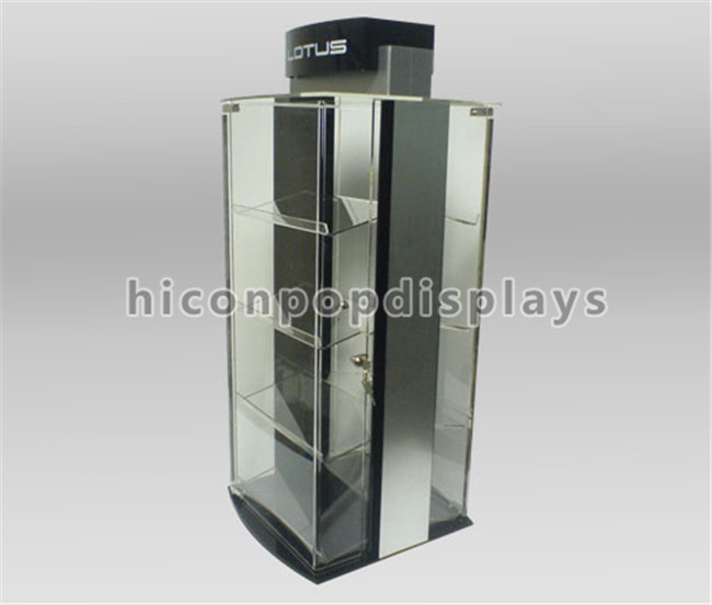 Lockable table top fashion store custom design acrylic watch display