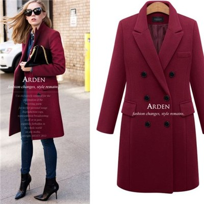 2015 Autumn Winters In Europe And The New Women''s Clothing, The European Temperament Coat,Welcome To Sample Custom