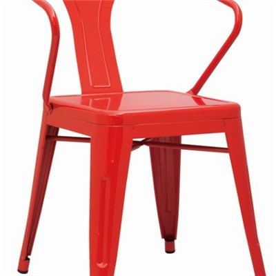 Powder Coated Metal Dining Chair