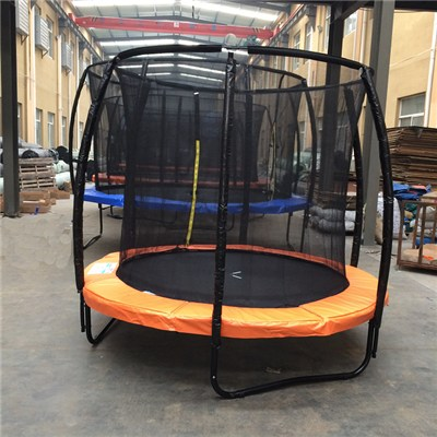 8FT New Round Spring Trampoline With Curved Poles