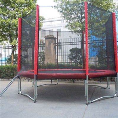 10FT Family Gardon Amusement Round Spring Trampoline With Net Outside
