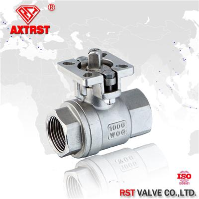 Two Piece Stainless Steel Floating Ball Valve With ISO5211 Mounting Pad